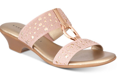 e457b9f248a08c size 7 Karen Scott Eanna Rose Wedge Open Toe Strappy Slides Sandals Shoes