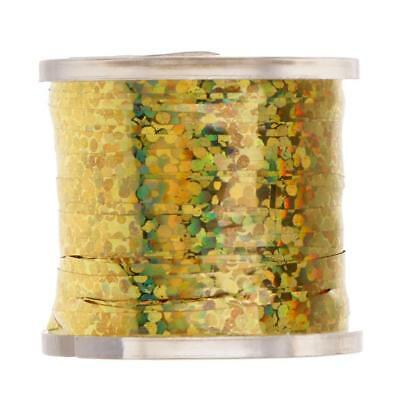 200yds Fly Tying Tinsel Flash Tape Baits Body Skin Making Fly Tying Material