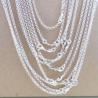 5x Sterling Silver Plated 1MM Classic Cross Necklace Chain Wholesale Bulk Price