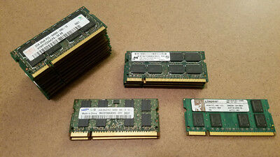 Lot of (18) Laptop 2GB DDR2 RAM PC2-6400S 800MHz Memory Samsung Hynix Micron