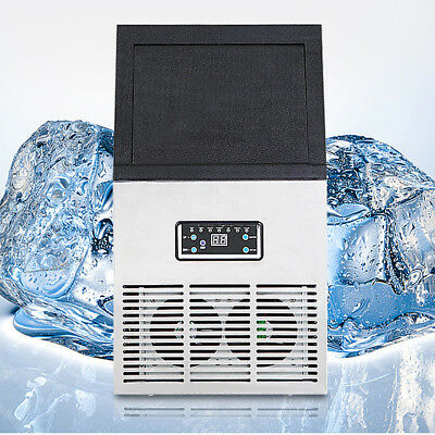 Heavy Duty Commercial Grade CUBE ICE MAKER MACHINE 50KG 24h 11.5KG Storage USA