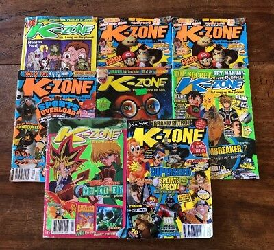Retro 2000's Collectable K-zone Pokémon Anime lot x 9magazines
