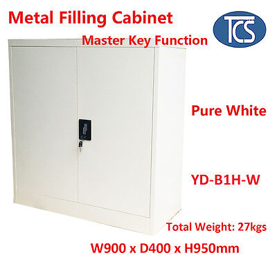 TCS Free Shipping METAL STEEL LOCKER STATIONERY CABINET FILING CUPBOARD White