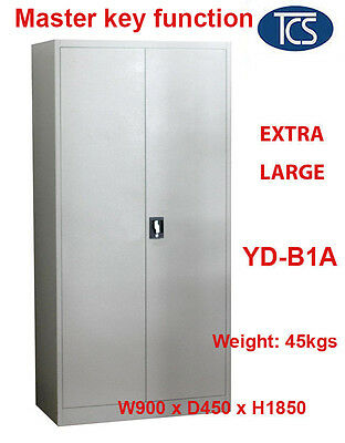 TCS Assembled EXTRA LARGE Metal Steel Locker Filing Stationary Cabinet CUPBOARD