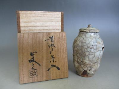 Japanese old Shino ware tea caddy Chaire w/box/ very tasteful/ 7740