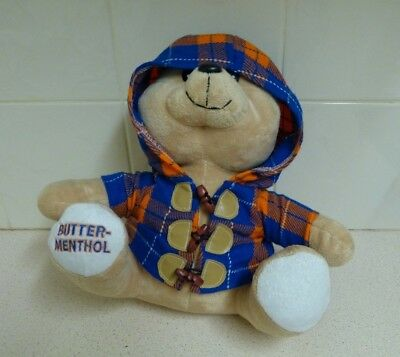 Butter Menthol Teddy Bear  Plush Toy - Whole Box 'n Dice - Advertising