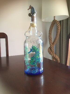 Original Hand Painted Bottles,  Sea Creatures Collection