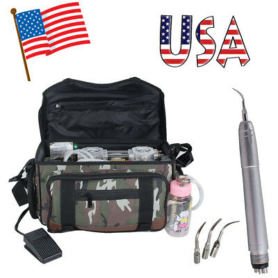 Portable Dental Turbine Unit Bag +Air Compressor +Suction+ Syringe + Air Scaler