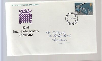 C337. GB FDC 62nd Inter-Parliamentary Conference 1975