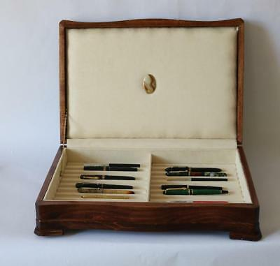 Fountain Pen Storage Display Chest, #637, Hand-Crafted, Solid Mahogany, Usa