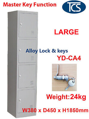 TCS Assembled 4 Door Metal Steel Storage Locker Alloy Lock GYM OFFICE CLUB STAFF