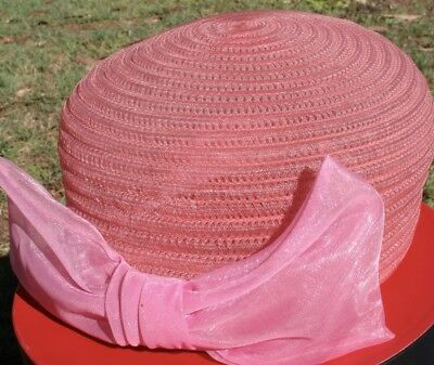 VINTAGE Ladies HAT 1960s DAY or Evening  'Mad Men Style' Races, DRESS UP, 59 cm