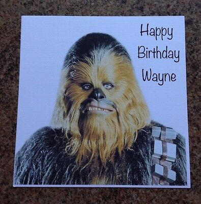 Handmade Personalised Star Wars Chewbacca Birthday Card 225