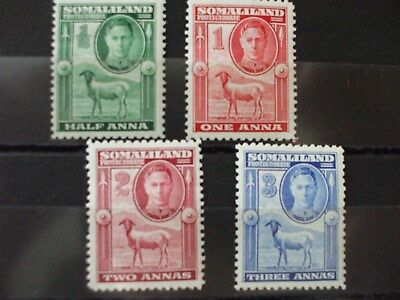 SOMALILAND 1938 KGVl Issue Part Set of 4vs MH Cat 25.75 (20H)