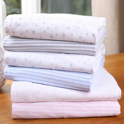 Clair de Lune Jersey Cotton Printed Fitted Sheet, 2 Pack