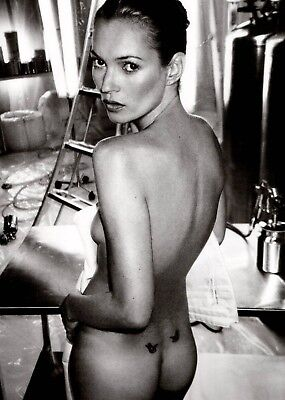 KATE MOSS POSTER e - 4 SIZES YOU CHOOSE - UK SELLER - INCLUDES UK POSTAGE
