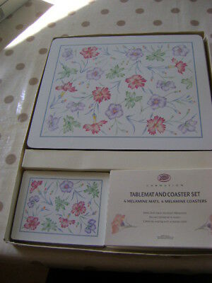 Boots Carnation Placemats And Coasters    Boxed    Unused