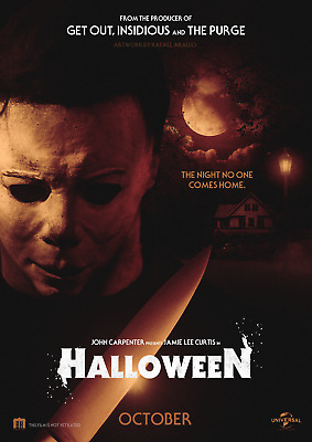 HALLOWEEN HORROR MOVIE POSTER (a) - 4 SIZES YOU CHOOSE - UK SELLER