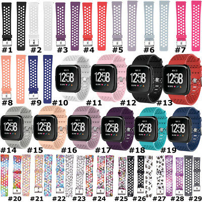 For Fitbit Versa Wristband Replacement Soft Silicone TPU Watch Band Wrist Strap