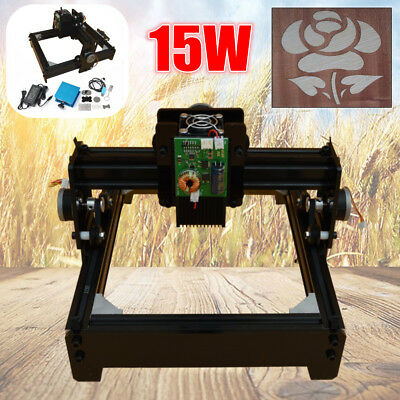15W Laser Engraver Engraving Machine CNC USB Metal Iron Stone Printer Cutter Set