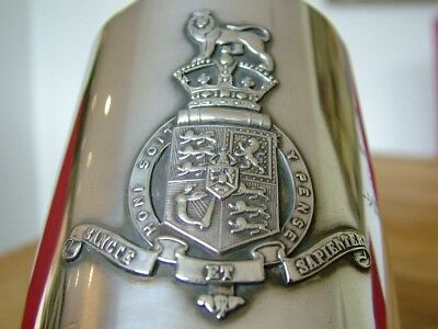 Rare Silver Plate King's College London Tankard Died South Africa 1895 Boer Nr
