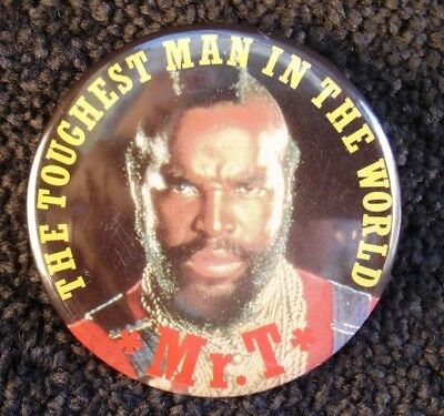 Mr T The Toughest Man in the World 1980s Promotional Badge