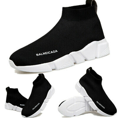 Womens Sock Shoes Slip on Sneakers High Top Sports Comfy Shoes Running Athletic
