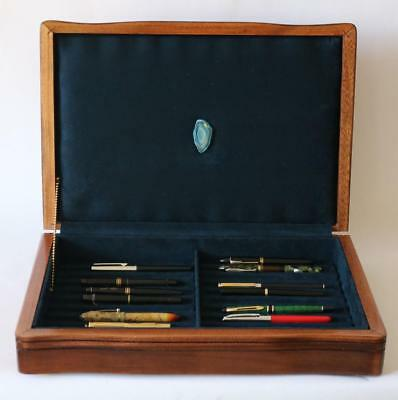 Fountain Pen Storage Display Chest, #638, Hand-Crafted, Solid Mahogany, Usa