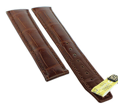 Maurice Lacroix Masterpiece Spare Band 20mm XL Louisiana Crocodile Leather Brown