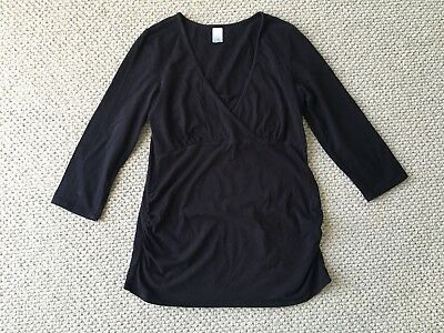 Target Size 14 Black maternity Breastfeeding Top Tee Stretch