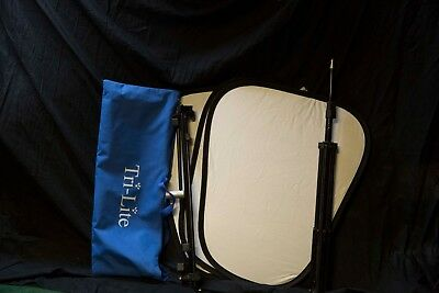 Lastolite Trilite Reflector MKII Kit with White / Silver Panels with holder