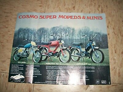 1970s COSMO Super Mopeds & Minis Advertisment Colt Blazer Mini Cross