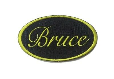 *CUSTOM* Personalised Name Embroidery Sew on (OVAL Shape) Patch Embroidered Tag