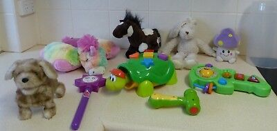 Bulk Toddler Toys (8) - Talking,musical,plush,educational Etc - Fp/ganz/pump Pch