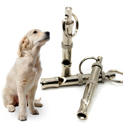 New Metal Dog Whistle UltraSonic Supersonic Sound Pet Command Training Obedience
