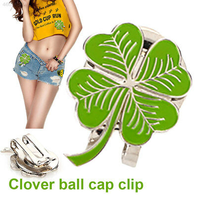 Golf Ball Marker Clover Alloy Golf Hat Clip Golf Cap Clip Gift Protect Magnetic