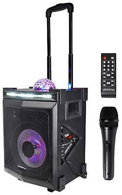 Vocopro LIGHTSHOW-MAGIC Rechargeable Bluetooth Karaoke Machine System+LED's+Mic