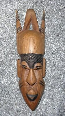Fabulous Vintage Wooden African Friendship Mask - Hand Carved!