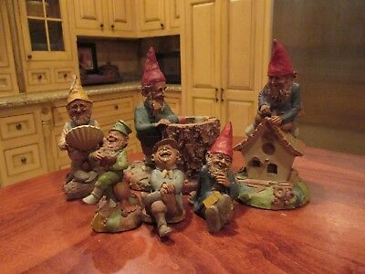 Lot of Six Tom Clark/Tim Wolfe Gnomes, Two Signed