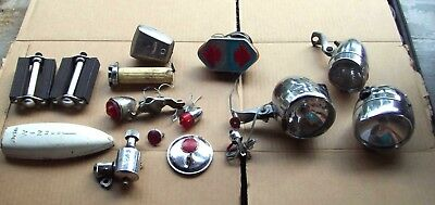 Vintage Bicycle Lights 2 D Battery, Mirror, Generator, Horn, Pedals, Reflector
