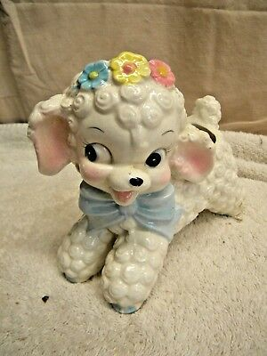 Vintage Baby Lamb Sheep Retro Ceramic Planter Succulent