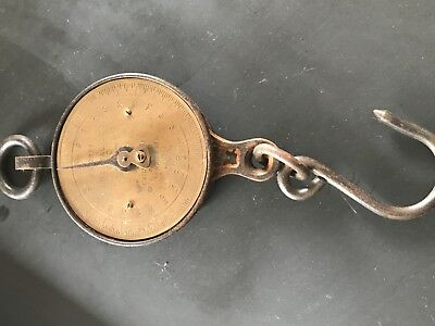 Salter Brass and Iron Hanging Butchers Scales