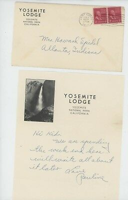 Mr Fancy Cancel Yosemite Lodge Ltr 1957 Cvr #1989