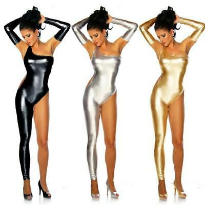 Ladies Womens Sexy Club Dance Rompers Catsuit Jumpsuit Shiny Zsell