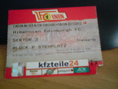 Ticket Union Berlin - Hibernian Edinburgh 2012 Alte Försterei Berlin