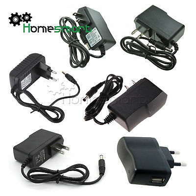 EU/US Plug AC 100-240V to DC 12V 9V 5V 1A 2A Power Supply Konverter Adapter