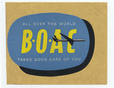 VINTAGE BOAC AIRLINE Luggage LABEL