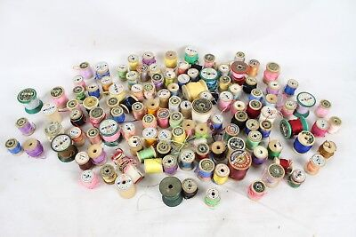 Huge Vintage Clark's Coats Spool Thread Lot Giant Sewing Supplies Antique Old