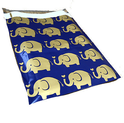 100 10x13 Elephant Designer Mailers Poly Shipping Envelopes Boutique Bags