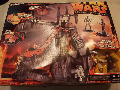 STAR WARS MUSTAFAR FINAL DUEL PLAYSET HASBRO Episode 3 Revenge of the Sith Figur
